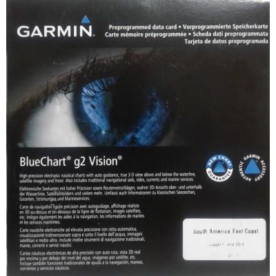 Carta Náutica Bluechart G2 Vision América do Sul/Costa Leste