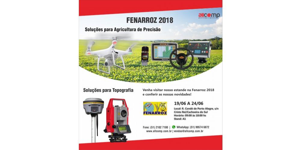 A Allcomp Estará Participando da Fenarroz 2018.