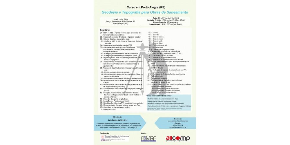 Curso de Geodésia e Topografia para Obras de Saneamento!