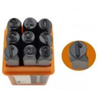 Batedor numérico - Jogo de Punção em Aço 4MM